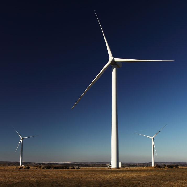 Wind Turbine on a sunny day